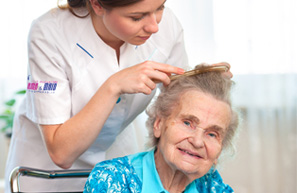 elderly caring dubai